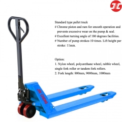 JCH25TB3 Hand Pallet Truck 2500/3000kg 2.5/3ton 5500/6600lbs Capacity Manual Pallet Truck