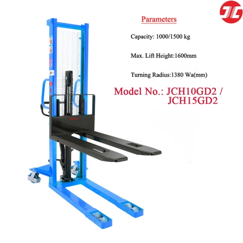 JCH10/15GD2 Manual Stacker with Fixed Forks