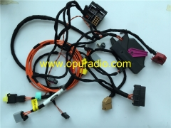 Wiring Harness cables for power on Bench Audi MMI 3G 3G+ car navigation CD DVD player SD Phone MAP Bluetooth