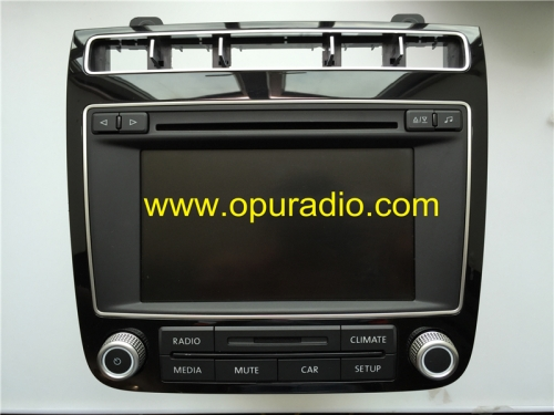 VW RCD550 7P6035162B P6035195D Volkswagen 2015-2016 Touareg 7P Stereo Radio Alpine 6 Disc CD changer Audio Media Phone SD Card Bluetooth Climate MP3 T