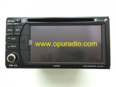 100% brand new OEM Factory TOYOTA VOICE NAVIGATION NSCD-W12U-A NSCD-W12U-A-B DENSO 86120-YY111 YY210 HD Radio WMA MP3 MAP Camera for 2013-2015 Sienna