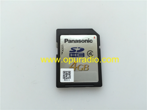 Panasonic SD card 4GB with Process exact for Toyota Prado car DVD audio