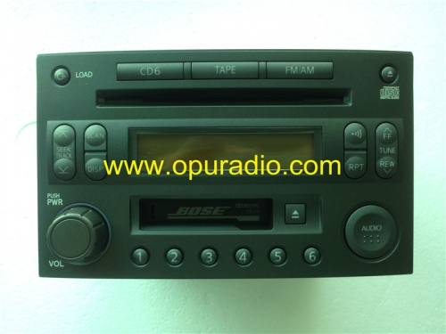 NISSAN 28188 CD401 Cassette CD player Clarion PP-2525L 6 CD changer 286-9839-05 for NISSAN Z33 350Z car radio Japan version BOSE sounds systems AM FM