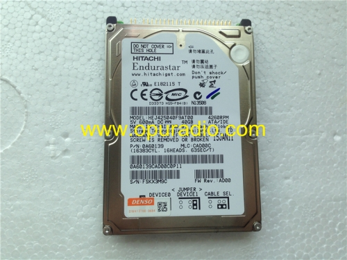 HITACHI Hard Disk Drive HDD 40GB HEJ425040F9AT00 for Toyota Denso Lexus GM Ford Chevy Navigation GPS audio radio systems