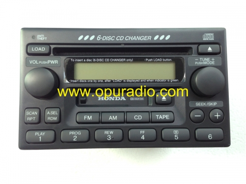 39100-S84-A300 CQ-EH1061Z Matsushita 6 disc CD Changer car radio including code for Honda Accord Civci CR-V Odyssey