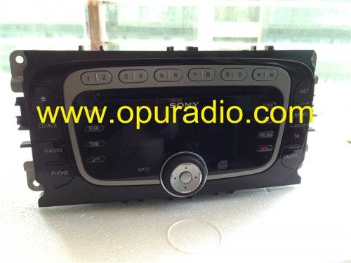 SONY single CD radio head unit MP3 Bluetooth HCD340 AM2T-18C939-AB FoMoCo for Ford Focus Mondeo car AUDIO SYSTEMS