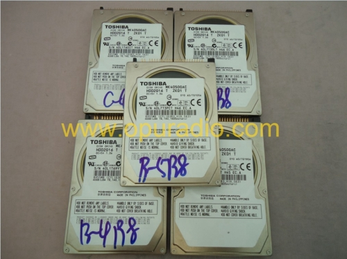 Toshiba MK4050GAC Disk Drive HDD2G16 T ZH01 T DC+5V 1.3A 40GB For Mercedes-benz Ford GM GMC Chevy Cadillac Lincoln Audi VW Toyota Porsche PCM3.1 Nissa