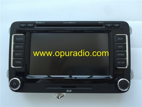 RNS510 Connecteur LCD pour écran tactile d'affichage pour SkodaAuto COLUMBUS MP3 Radio Skoda Navigation NAV MAP GPS Media Card SD Card HDD Contine