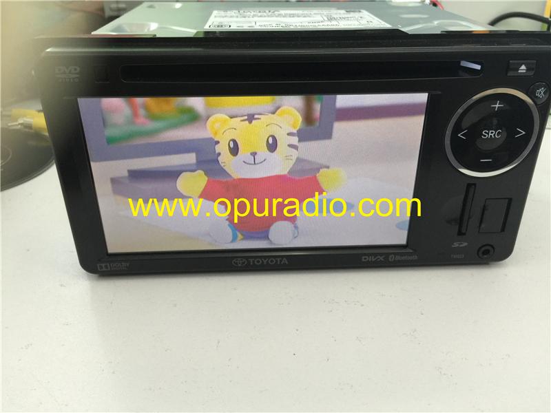 TOYOTA PZ071-00A48 DVD video Player for 2015 Land Crusier car Radio SD Card  Bluetooth Audio Disc USB Ipod AUX AV Rear Monitor camera Region 2