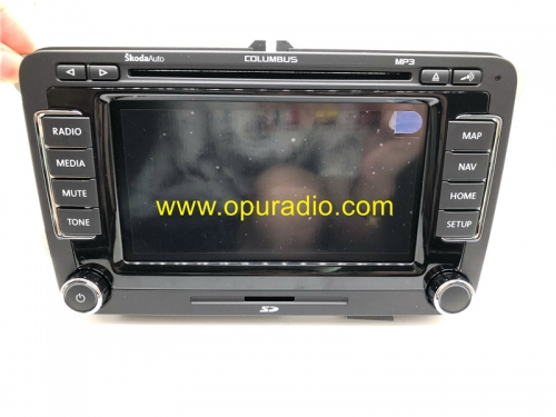 NEW Touch Display Screen Button Face for SKODA COLUMBUS RNS510 Radio OCTAVIA Superb Fabia Yeti Car Navigation DVD player
