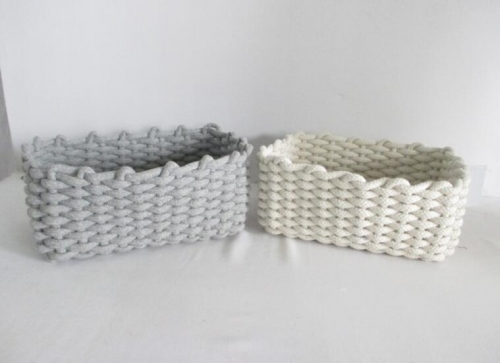 storage basket,cotton rope basket,gift basket