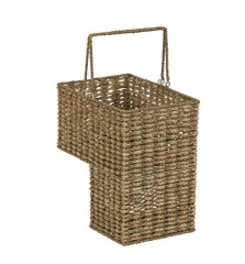 Storage basket,sea grass woven stair step basket,with metal frame