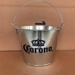 ice bucket,galvanized bucket,3L to 15L mold available,with 2 opener