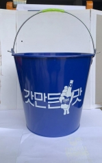 ice bucket,galvanized bucket,3L to 15L mold available,silk logo printed
