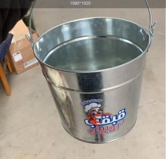 ice bucket,galvanized bucket,3L to 15L mold available,logo printed accepted