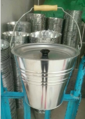 ash bucket with lid,galvanized bucket,3L to 15L mold available,logo printed accepted