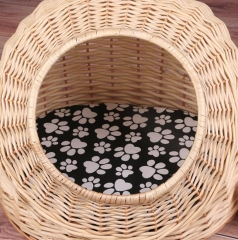 cat bed,dog bed,pet bed,made of willow with pillow