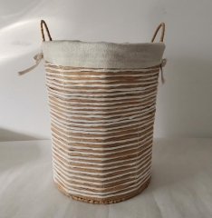 storage basket,laundry basket,paper rope woven basket with metal frame