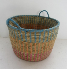 storage basket,gift basket,fruit basket,made of grass