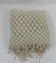cotton rope woven pillow,gifts