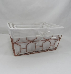 storage basket,gift basket,metal basket,S/3