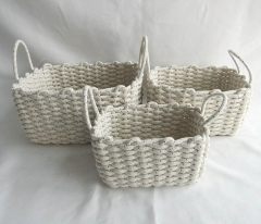 storage basket,gift basket,cotton rope basket,S/3
