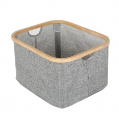laundry basket,made of canvas with bamboo frame