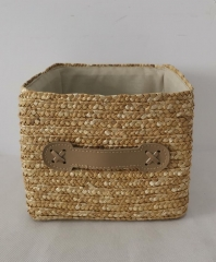 storage basket,gift basket,made of wheat straw with liner