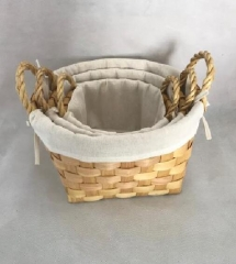 storage basket,wooden basket,laundry basket