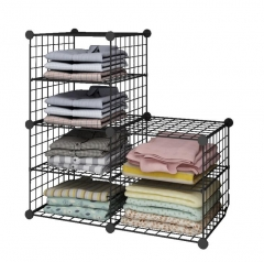 DIY wire mesh household container,storage cabinet,KD packing