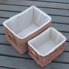 storage basket,gift basket,made of maize,set of 2