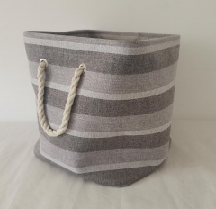 laundry basket,storage basket,canvas basket,rope handle