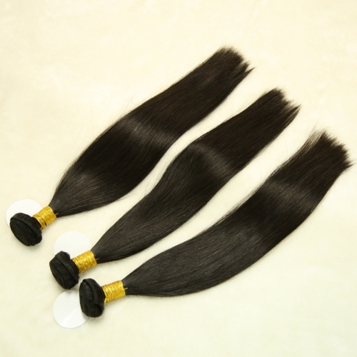 Full End Brazilian Remy Hair Silky Straight 3 bundles/lot Free Shipping
