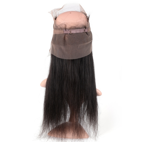 "360 Frontal 22""X4"" Peruvian Virgin Hair Straight  Natural Color"