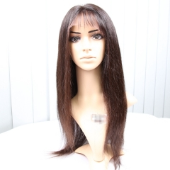 Lace Front Wigs 150% Density Virgin Brazilian Hair Silky Straight Natural Color
