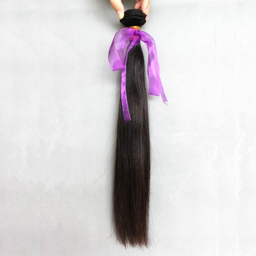 Brazilian Virgin Hair Weave Silky Straight Natural Color 1 Bundle