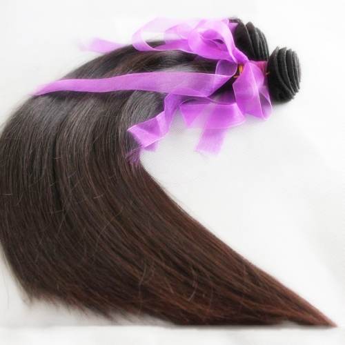 10 Pcs/lot  Brazilian Virgin Hair Weave Silky Straight Natural color  Free Shipping