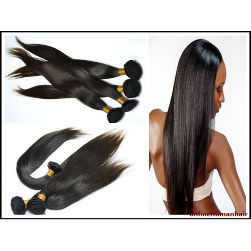 Indian Virgin Hair Weave Silky Straight Natural Color 1 Bundle