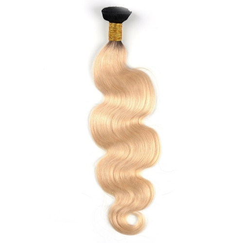 Brazilian Remy Hair Body Wave Ombre 1b/613# 1 Dundle Deal