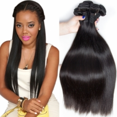 Brazilian Remy Hair Silky Straight Natural Black 1 Bundle