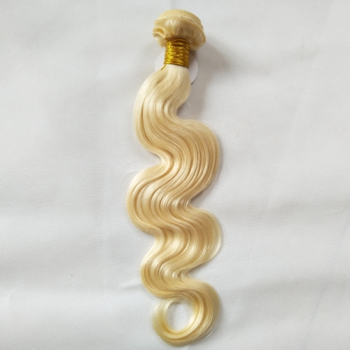 Brazilian Virgin Hair Weave Body Wave Blonde Color 613# 1 Bundle