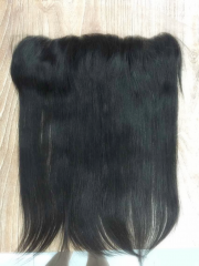 "Lace Frontal 13""X4"" Brazilian Virgin Hair Silky Straight Natural Color"
