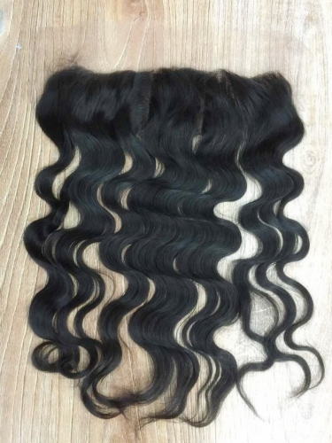 "Lace Frontal 13""X4"" Ear To Ear Brazilian Virgin Hair Body Wave Natural Color"