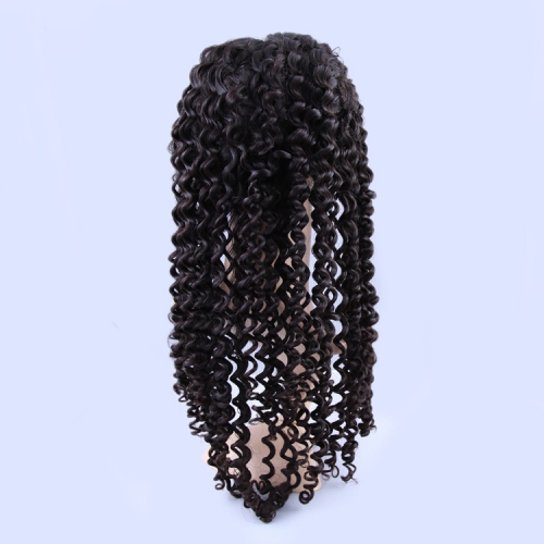 Lace Front Wigs 150% Density Brazilian Virgin Hair Deep Wave Natural Color