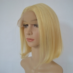 Blonde Bob Wig Color 613# Human Hair 13X4 Lace Frontal Wigs