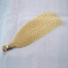Peruvian Virgin Hair Straight Blonde Color 613# 1 Bundle