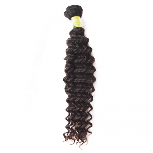 Brazilian Virgin Hair Weave Deep Wave Natural color 1 bundle