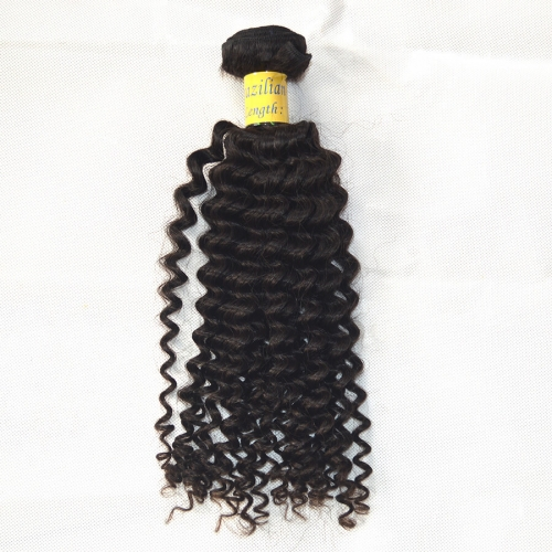 Brazilian Virgin Hair Jerry Curly Wave Natural Color 1 Bundle