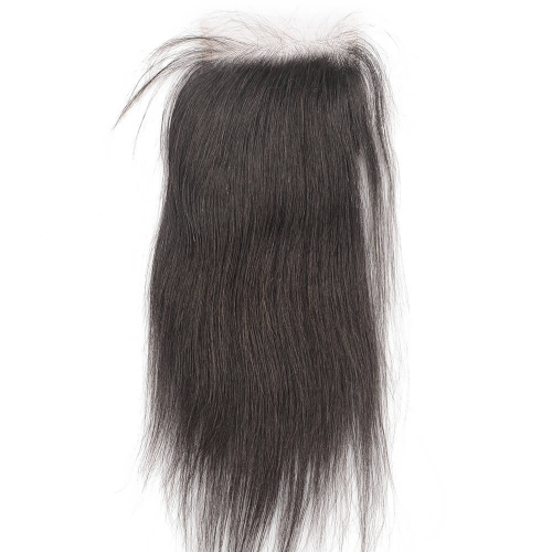 "HD Thin Swiss Lace Closure 4""X4"" Peruvian Virgin Straight Hair Pre-plucked Baby Hair"