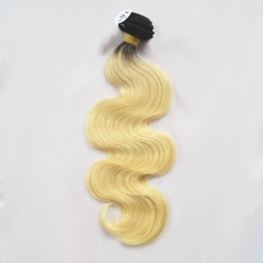 Peruvian Virgin Hair Body Wave Blonde Color 1b/613# 1 Bundle